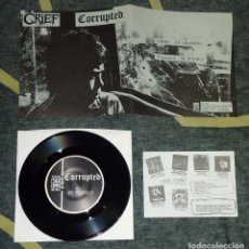 Discos de vinilo: CORRUPTED / GRIEF - SPLIT - 7'' [HG FACT, 1995]. Lote 69891101