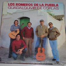 Discos de vinilo: LP LOS ROMEROS DE LA PUEBLA. GUADALQUIVIR DE COPLAS. 1982. HISPAVOX S.A. Lote 69898857