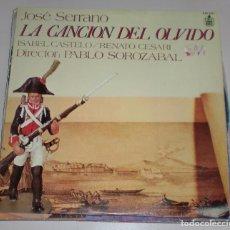 Discos de vinilo: LP. JOSE SERRANO. LA CANCION DEL OLVIDO. HISPAVOX. 1978. Lote 69900373