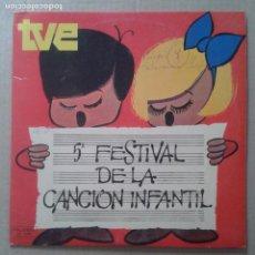 Discos de vinilo: 5º FESTIVAL DE LA CANCIÓN INFANTIL TVE. VINILO DE 12 PULGADAS DE PALOBAL / IBEROFON, 1973. . Lote 69905709