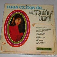 Discos de vinilo: LP. MAS EXITOS DE... ARGENTINA CORAL. BELTER. 1969. Lote 69907749