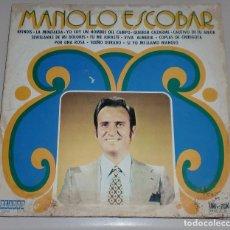 Discos de vinilo: LP. MANOLO ESCOBAR. BRINDIS / LA MINIFALDA. ORLADOR. 1972. Lote 69907957