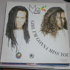 Discos de vinilo: LP. MILLI MANILLI. GIRL I'M GONNA MISS YOU. BMG. 1989. Lote 69912737