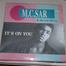 Discos de vinilo: LP. M.C.SAR & THE REAL MCCOY. IT'S ON YOU. BLANCO Y NEGRO MUSIC. 1990. Lote 69914985