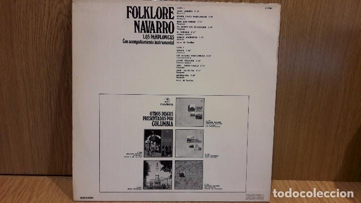 Discos de vinilo: LOS PAMPLONICAS. FOLKLORE NAVARRO. LP / COLUMBIA - 1973 / MBC. ***/*** - Foto 2 - 69916041