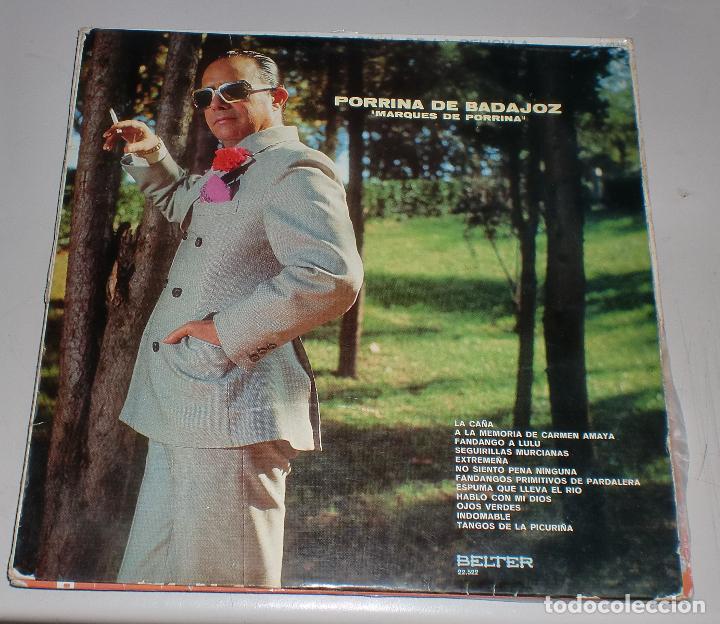 LP. PORRINA DE BADAJOZ. MARQUES DE PORRINA. BELTER. 1971 (Música - Discos - LP Vinilo - Cantautores Españoles)