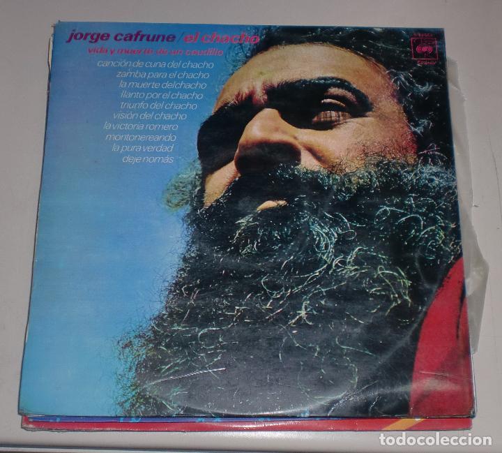 LP. JORGE CAFRUNO. EL CHACHO. VIDA Y MUERTE DE UN CAUDILLO. CBS. 1971 (Música - Discos - LP Vinilo - Cantautores Españoles)