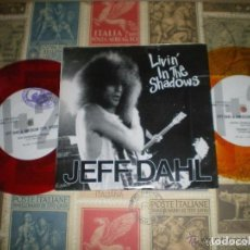 Discos de vinilo: JEFF DAHL LIVIN IN THE SHADOWS DOBLE COLOR (1992-BARN HOMES ) MUY RARO ORIGINAL JAPON. Lote 70014657