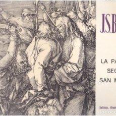 Discos de vinilo: VINILOS LA PASION DE J.BACH VOLM.II EL QUE VES. Lote 70024521