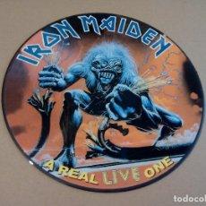 Discos de vinilo: IRON MAIDEN - A REAL LIFE ONE ( LP PICTURE ) NUEVO. Lote 230835290