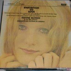 Discos de vinilo: LP. RONNIE ALDRICH Y SUS DOS PIANOS. ORQUESTA DEL FESTIVAL DE LONDRES. INVITATION TO LOVE. 1974.. Lote 70069121