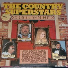 Discos de vinilo: LP. THE COUNTRY SUPERSTARS. 20 GOLDEN HITS. FREDDY FENDER, KENNY ROGERS, LYNN ANDERSON, JOHNNY CASH.. Lote 70071061