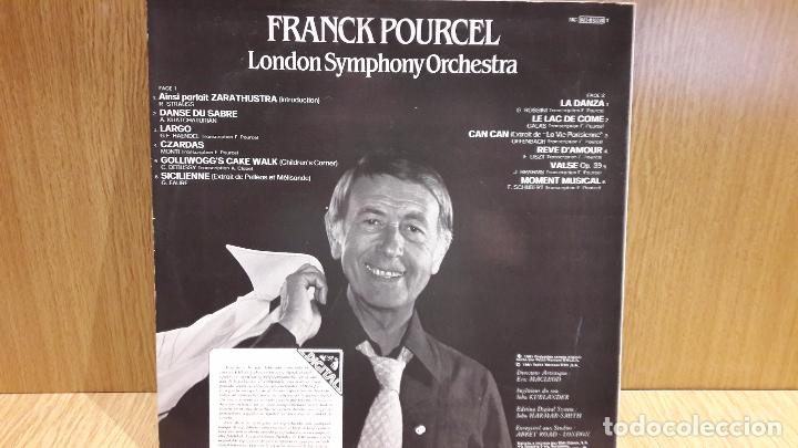 Discos de vinilo: FRANCK POURCEL / LONDON SYMPHONY ORCHESTRA. CLASSIC IN DIGITAL. LP / EMI / MBC. ***/*** - Foto 2 - 70073701