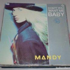 Discos de vinilo: LP. MANDY. DON'T YOU WANT ME BABY. PWL RECORDS. 1989. Lote 70074253