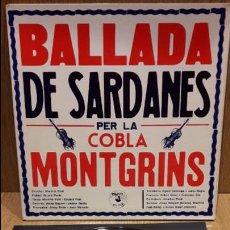 Discos de vinilo: BALLADA DE SARDANES PER LA COBLA MONTGRINS. LP-GATEFOLD / PUPUT - 1979 / MBC. ***/***. Lote 70096761