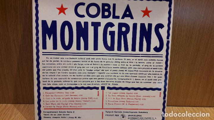 Discos de vinilo: BALLADA DE SARDANES PER LA COBLA MONTGRINS. LP-GATEFOLD / PUPUT - 1979 / MBC. ***/*** - Foto 3 - 70096761