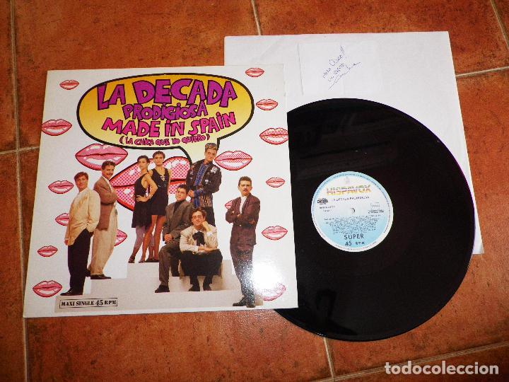 LA DECADA PRODIGIOSA MADE IN SPAIN FIRMA DE CECILIA MAXI SINGLE VINILO FESTIVAL EUROVISION 1988 (Música - Discos de Vinilo - Maxi Singles - Festival de Eurovisión)