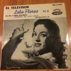 Discos de vinilo: EP FRANCÉS LOLA FLORES EL TELEVISOR. Lote 70120153