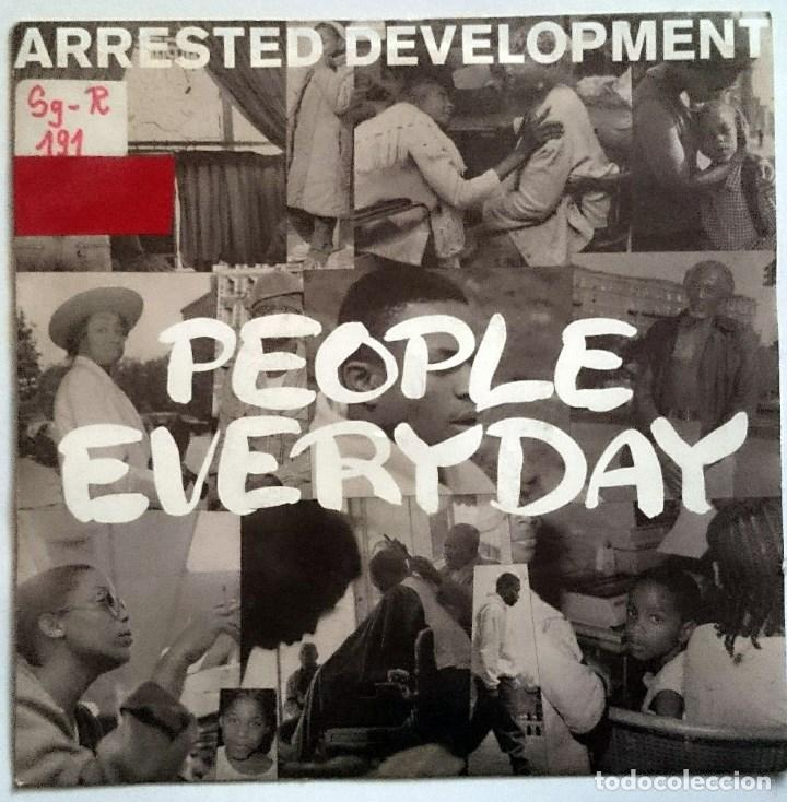 ARRESTED DEVELOPMENT: PEOPLE EVERYDAY, SINGLE COOLTEMPO COOL 265. UK, 1992. SELLO PROMO ESPAÑOL (Música - Discos - Singles Vinilo - Rap / Hip Hop)