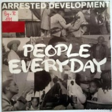 Discos de vinilo: ARRESTED DEVELOPMENT: PEOPLE EVERYDAY, SINGLE COOLTEMPO COOL 265. UK, 1992. SELLO PROMO ESPAÑOL. Lote 70137281
