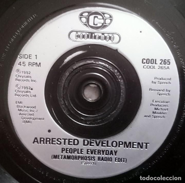 Discos de vinilo: Arrested Development: People Everyday, Single Cooltempo COOL 265. UK, 1992. Sello Promo Español - Foto 2 - 70137281