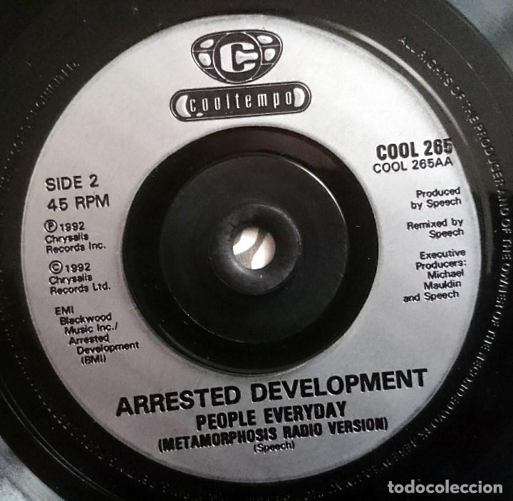 Discos de vinilo: Arrested Development: People Everyday, Single Cooltempo COOL 265. UK, 1992. Sello Promo Español - Foto 3 - 70137281
