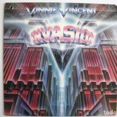 Discos de vinilo: VINNIE VINCENT- INVASION- USA LP 1986 + INSERT- KISS.. Lote 70145537