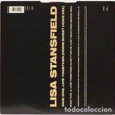 Discos de vinilo: LISA STANSFIELD LIVE TOGETHER REMIX 1 MAXI-SINGLE 1989. Lote 70170565