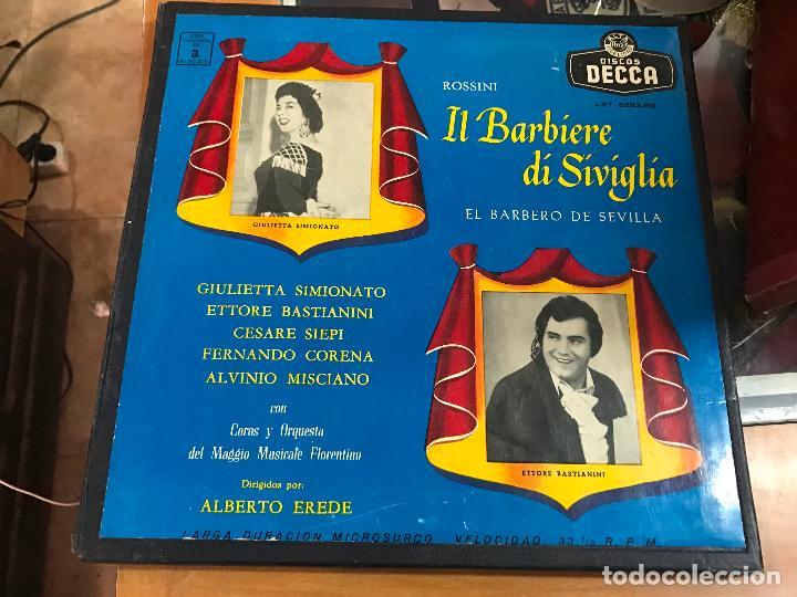 Il Barbiere Di Siviglia El Barbero De Sevilla Rossini Giulietta Simionato Decca Lxt 5283 85 3lps