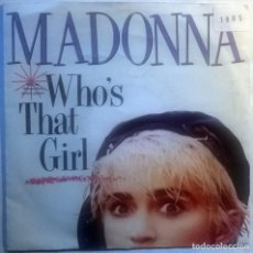 Discos de vinilo: MADONNA. WHO'S THAT GIRL/ WHITE HEAT. SIRE-WEA, SPAIN 1987 (SINGLE PROMOCIONAL). Lote 70176233
