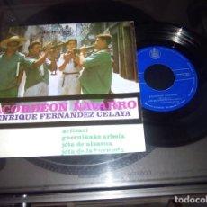 Discos de vinilo: ENRIQUE FERNANDEZ CELAYA / ACORDON NAVARRO / EP 45 RPM / HISPAVOX 1963. Lote 70208573