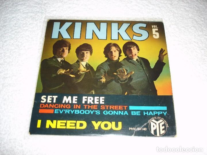KINKS: SET ME FREE +3 - EP. PYE 1965 (MADE IN FRANCE) (Música - Discos de Vinilo - EPs - Pop - Rock Extranjero de los 50 y 60)
