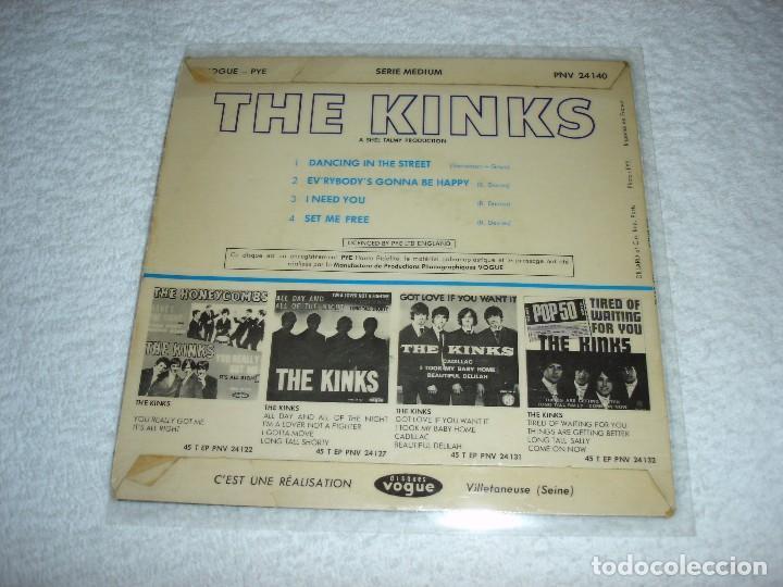 Discos de vinilo: KINKS: SET ME FREE +3 - EP. PYE 1965 (MADE IN FRANCE) - Foto 2 - 74758198