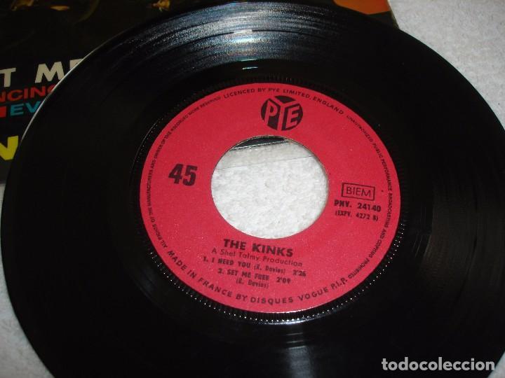 Discos de vinilo: KINKS: SET ME FREE +3 - EP. PYE 1965 (MADE IN FRANCE) - Foto 4 - 74758198