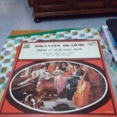 Discos de vinilo: JOHANNES BRAHMS. SINFONÍA Nº 1 EN DO MENO. OP. 68. C8V. Lote 70276121