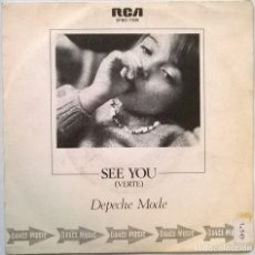 Discos de vinilo: DEPECHE MODE. SEE YOU (VERTE)/ NOW, THIS IS FUN. RCA-MUTE, SPAIN 1982 (SINGLE PROMOCIONAL). Lote 70277421