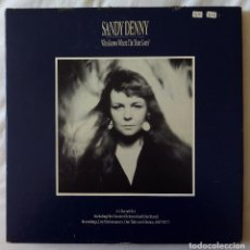Discos de vinilo: SANDY DENNY, WHO KNOWS WHERE THE TIME GOES (HANNIBAL) BOX 4 X LP USA - FAIRPORT CONVENTION. Lote 70294053