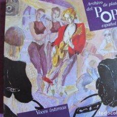 Discos de vinilo: LP-ARCHIVO DE PLATA DEL POP ESPAÑOL-VOCES INTIMAS (JARCHA, MARIA OSTIZ, ALBERTO CORTEZ). Lote 70300941