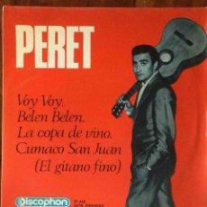 Discos de vinilo: PERET - VOY VOY - BELÉN BELÉN - LA COPA DE VINO - CUMACO SAN JUAN (DISCOPHON, 1965) EP. Lote 70334917