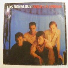Discos de vinilo: LOS RONALDOS - SACA LA LENGUA - LP EMI 1988. Lote 70335521