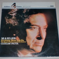 Discos de vinilo: LP. MAHLER. SINFONIA Nº 1 EN RE. THE ROYAL PHILHARMONIC ORCHESTRA. CARLOS PAITA. SERIE CONCIERTOS.. Lote 70342473