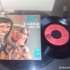 Discos de vinilo: BRIGITTE BARDOT -SACHA DISTEL / LE SOLEIL DE MA VIE / SINGLE 45 RPM / EMI . Lote 70374477
