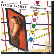 Discos de vinilo: EVELYN THOMAS - MASQUERADE (2 VERSIONES) - SINGLE 1984. Lote 70380117
