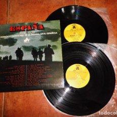 Discos de vinilo: ESPAÑA 1936 - 1939 25 HIMNOS Y CANCIONES DE LA GUERRA CIVIL ESPAÑOLA DOBLE LP VINILO AÑO 1977 2 LP. Lote 70433585