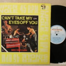 Discos de vinilo: BOYS TOWN GANG CAN'T TAKE MY EYES OFF YOU MAXI SINGLE 45 RPM VINYL MADE IN SPAIN 1982. Lote 70458825