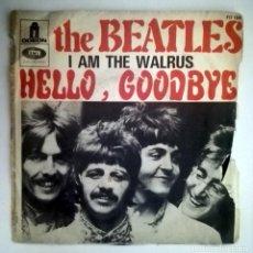 Discos de vinilo: THE BEATLES I AM THE WALRUS HELLO GOODBYE. Lote 70471301