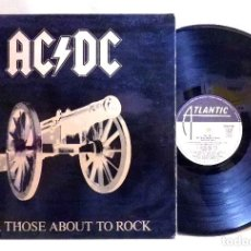 Discos de vinilo: DISCO LP, VINILO, ACDC, FOR THOSE ABOUT TO ROCK, WE SALUTE YOU, ATLANTIC, S 90471, 1981. Lote 70474157