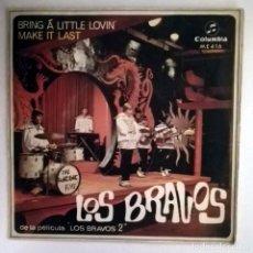 Discos de vinilo: LOS BRAVOS BRING A LITTLE LOVIN. Lote 70475865
