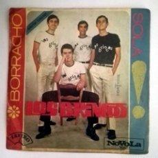 Discos de vinilo: LOS BRINCOS -BORRACHO- SOLA. Lote 70476453