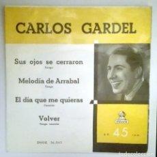 Discos de vinilo: CARLOS GARDEL -VOLVER-. Lote 70477769
